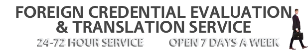 Credential Evaluation Services